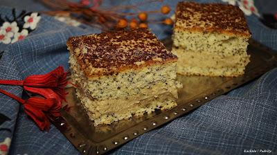 Ciasto makowo-chałwowe