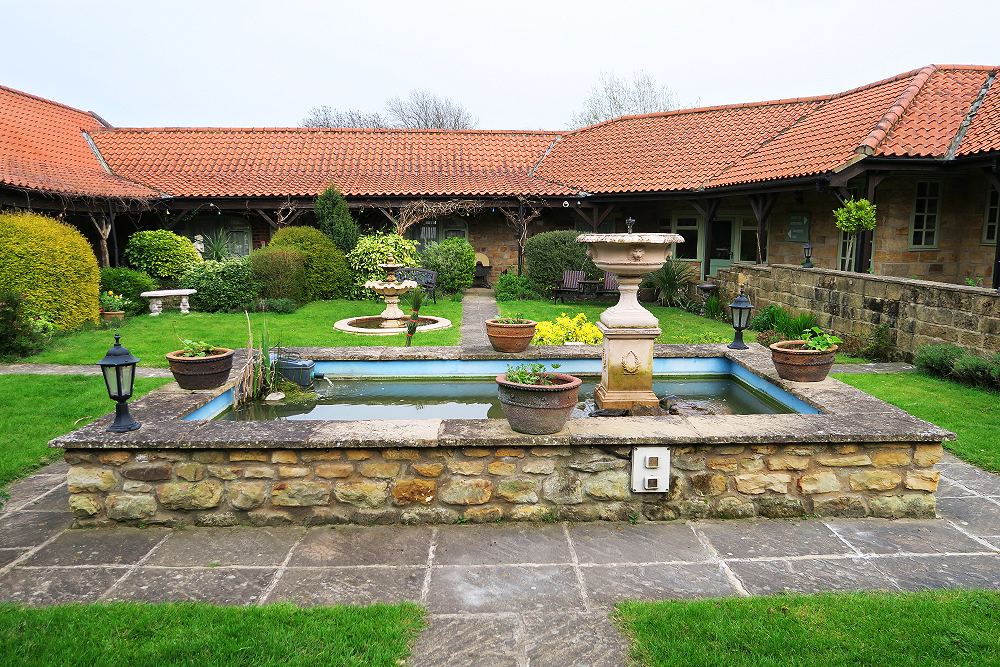 Courtyard at Ox Pasture Hall, Scarborough