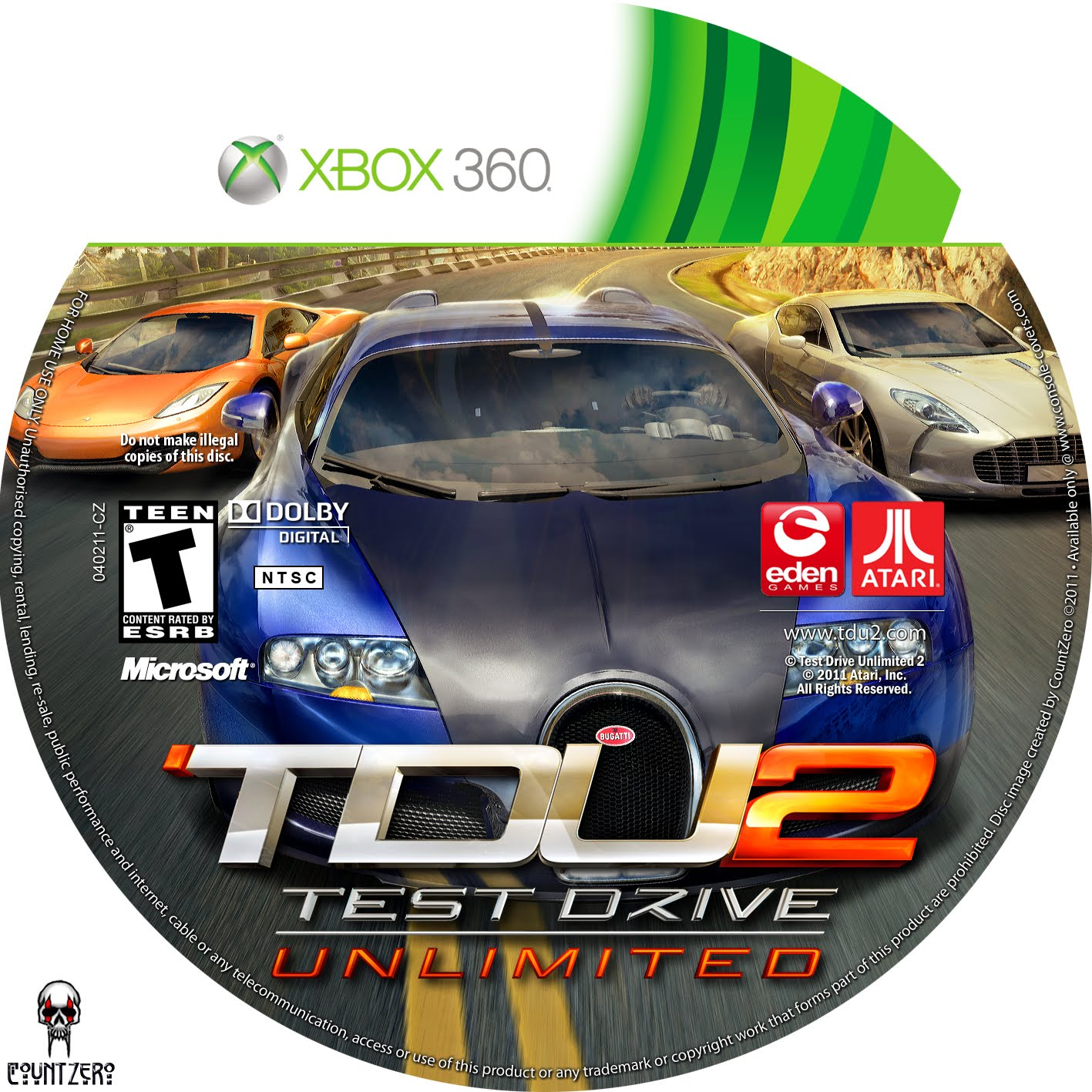 Test Drive Unlimited 2 Cars Xbox 360