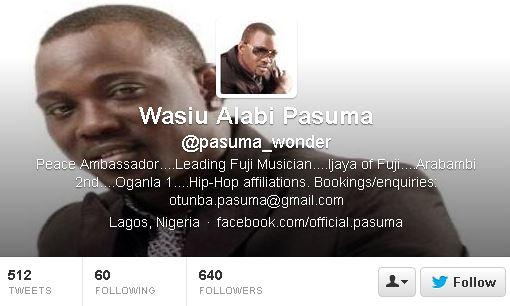 pasuma twitter account