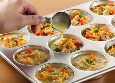 Porçoes individuais de Omelete  Receitas da Bebel