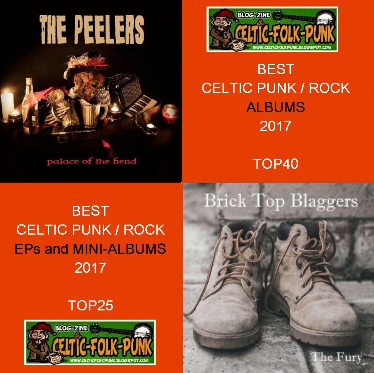 2017-12-22 THE BEST OF 2017 CELTIC PUNK / ROCK ALBUMS AND