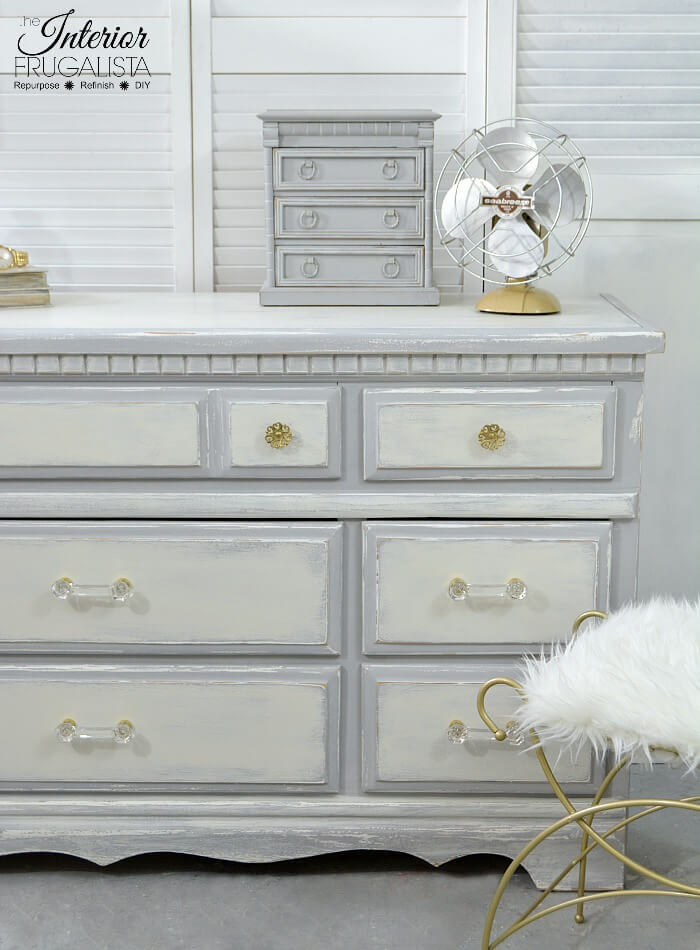 Farmhouse 9-Drawer Dresser Makeover Right Side After