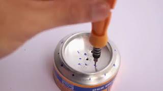 Membuat Kompor Dari Kaleng Minuman Bekas