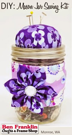 DIY Mason Jar Sewing Kit -  - Mother's Day Gift