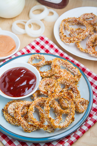 Crispy Baked BBQ Onion Rings
