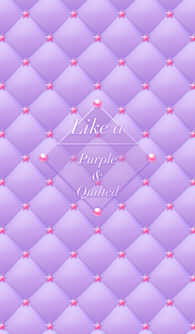 Like a - Purple & Quilted #Pop Star