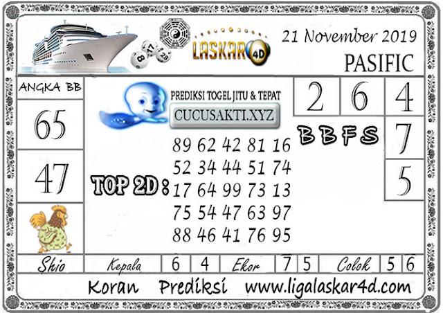 Prediksi Togel PASIFIC LASKAR4D 21 NOVEMBER 2019