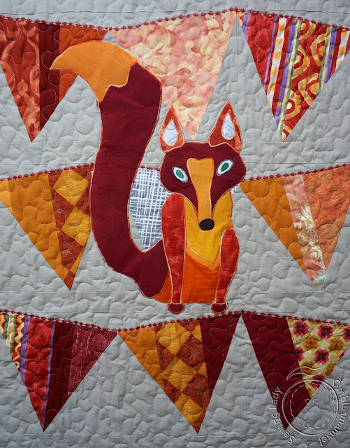 fox quilt, fox applique