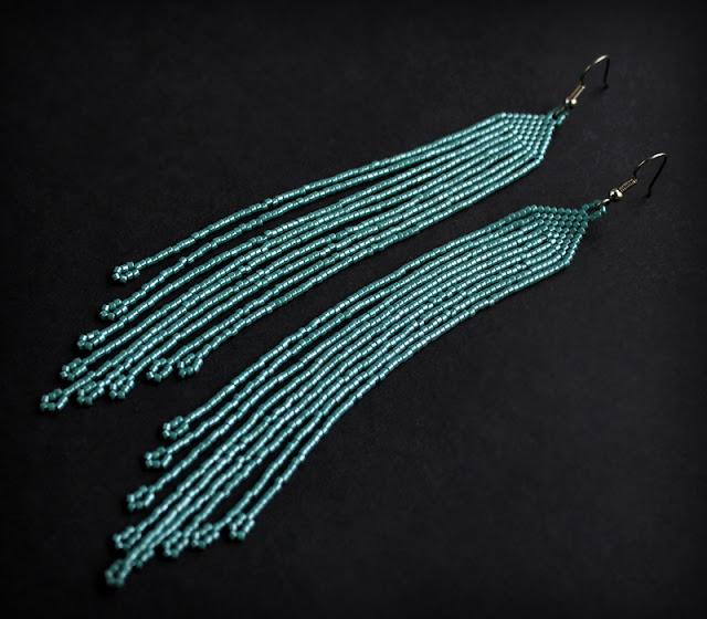 купить длинные серьги из бисера интернет магазин куплю готового изделия из бисера