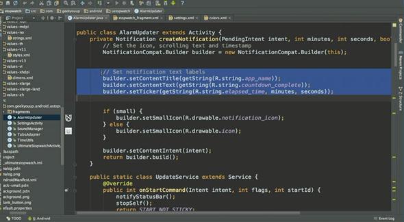 contoh editor Android Studio