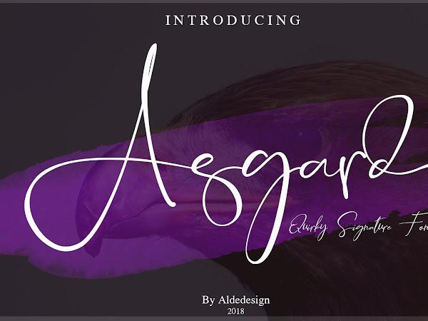 Asgard Handwritten Script Font Free Download