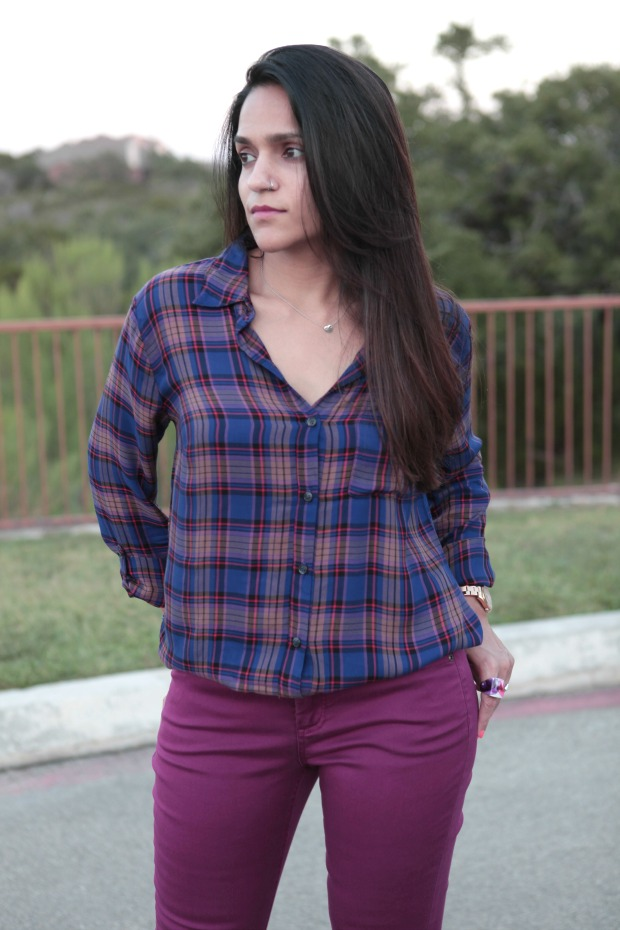 Splendid Blouse, Liverpool Jeans, Ruche, Fall Colors,  Tanvii.com