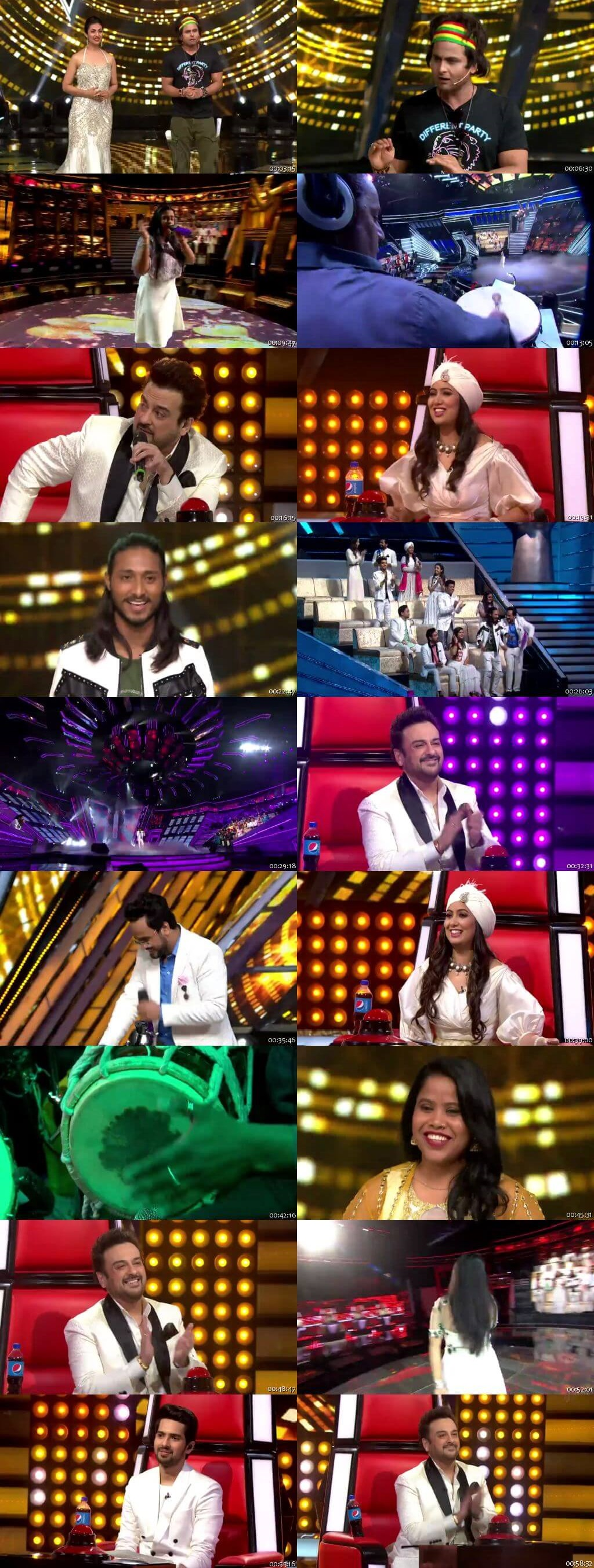 Screenshots Of Hindi Show The Voice 17th March 2019 Episode 13 300MB 480P HD