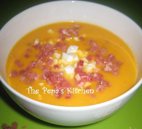 sopa de tomate fácil con thermomix