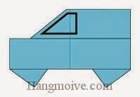 Bước 8: Vẽ cửa để hoàn thành cách xếp ô tô, xe hơi bảy chỗ bằng giấy origami đơn giản.