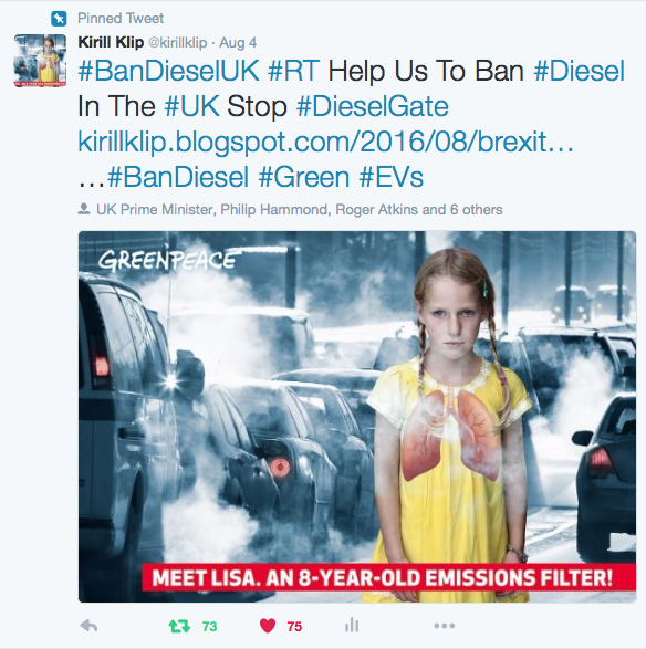 "Join our ""Ban Diesel UK"" Campaign!"