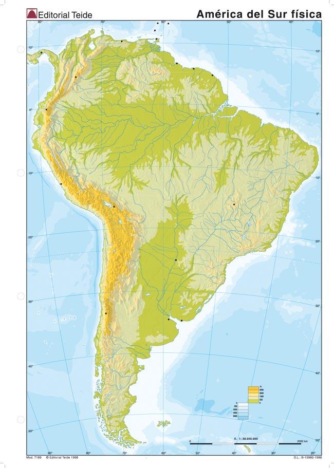 Mapa Africa Fisico Mudo.Todos Los Mapas Mapa Fisico America Del Sur