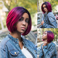 Short Faded Red Wig
