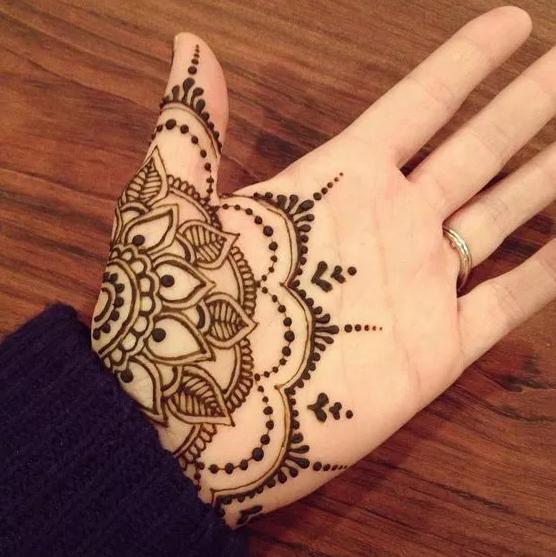 Desain Henna Telapak Tangan