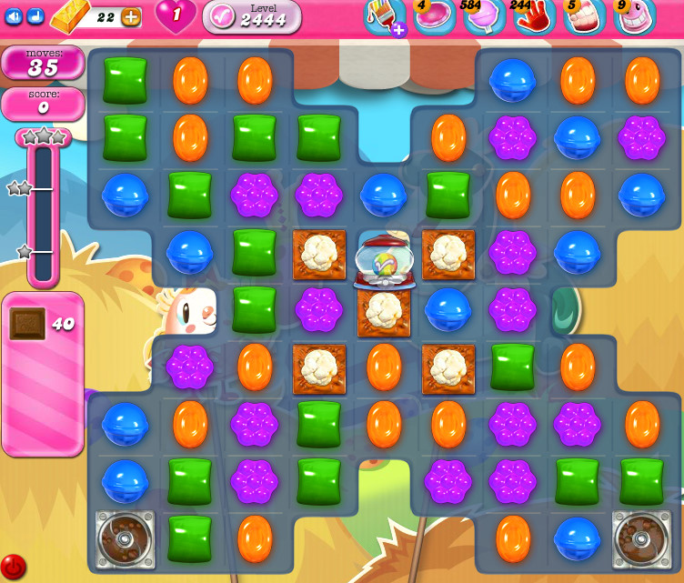 Candy Crush Saga level 2444