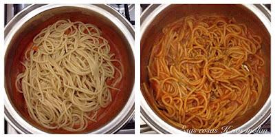 espagueti tomate y queso