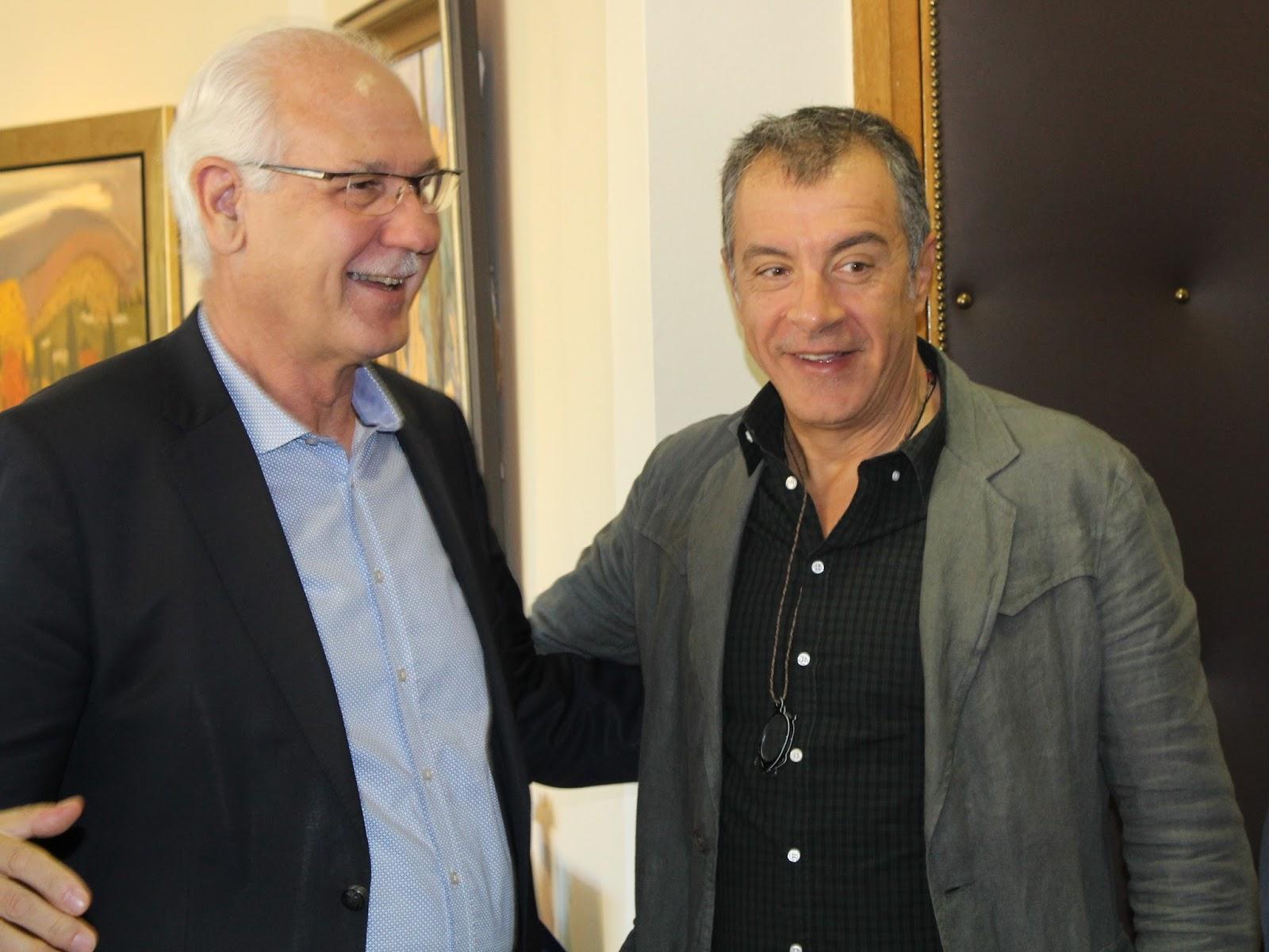 Συνάντηση του επικεφαλής του Ποταμιού Σταύρου Θεοδωράκη με το Δήμαρχο Λαρισαίων Απ. Καλογιάννη (ΦΩΤΟ)