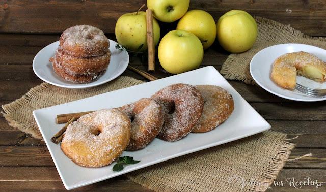 Buñuelos de manzana y canela. Julia y sus recetas