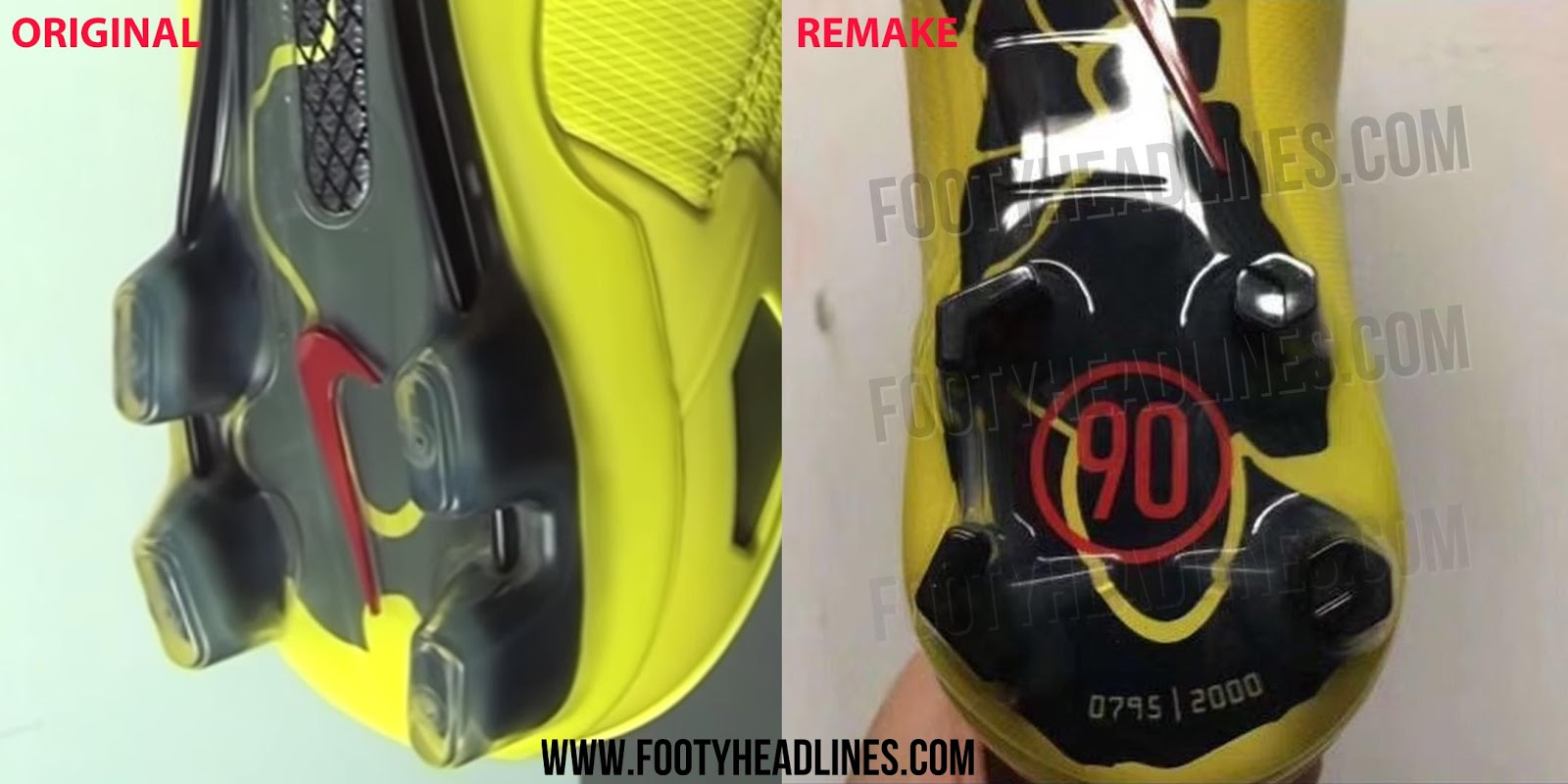 973653c7c4d54 Nike Total 90 Laser I Boots - 2019 Remake vs 2007 Original - Leaked ...