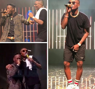 Dammy Krane Begging Wizkid With Tears While Performing On Stage