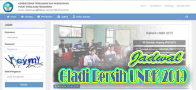 Jadwal Resmi Gladi Bersih UNBK 2019 Jenjang SMK SMA/MA SMP/MTs
