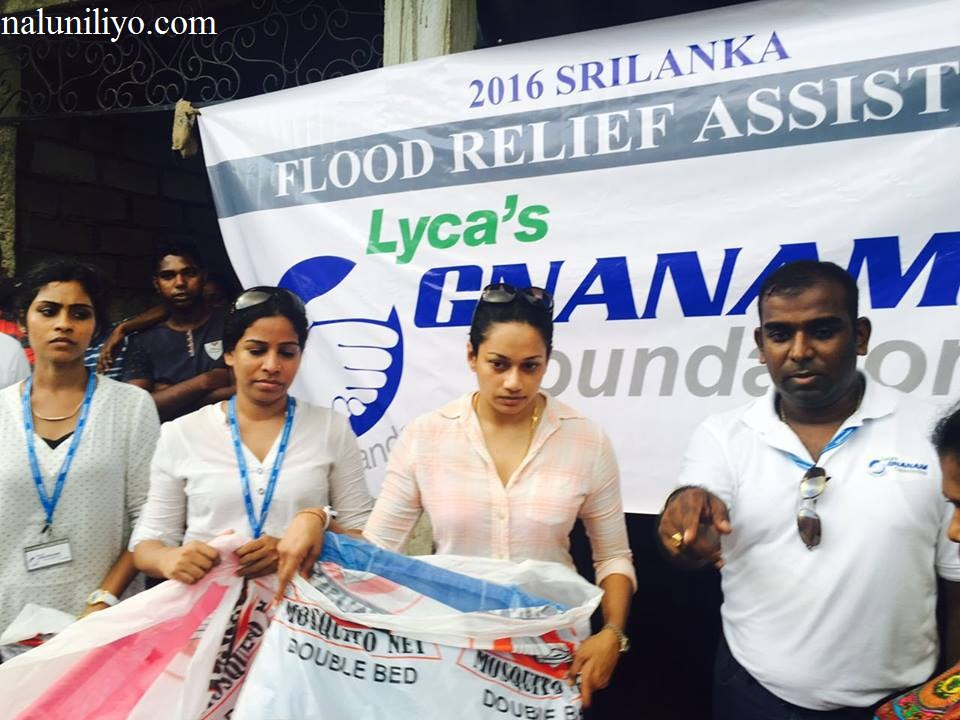 Janaki Wijerathne help flood areas
