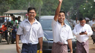 Two Reuters reporters freed in Myanmar after more than 500 days in jail