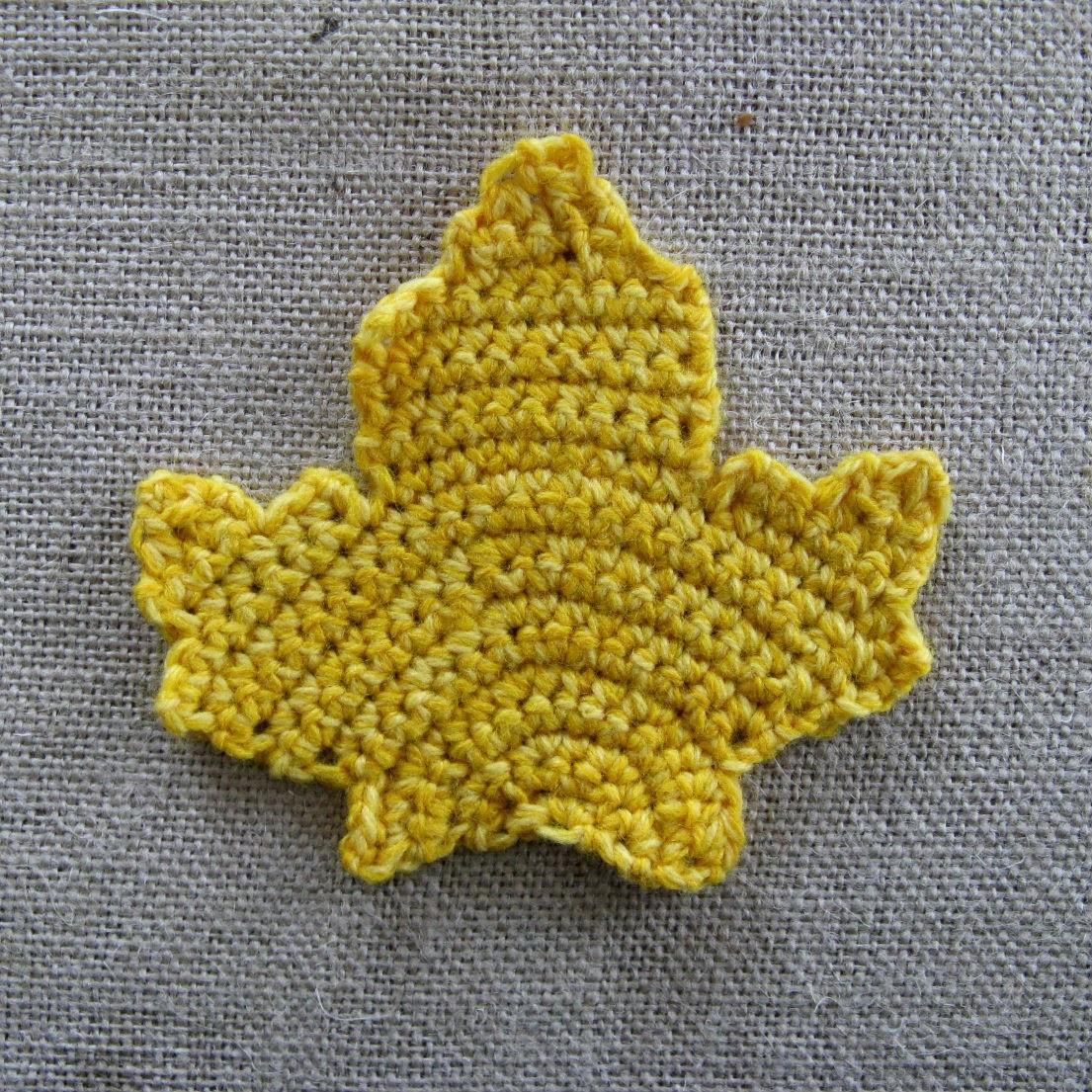Happy as a Lark: Crochet Autumn Leaf Coasters