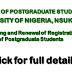 UNN PG Students Records Update & Registration Renewal