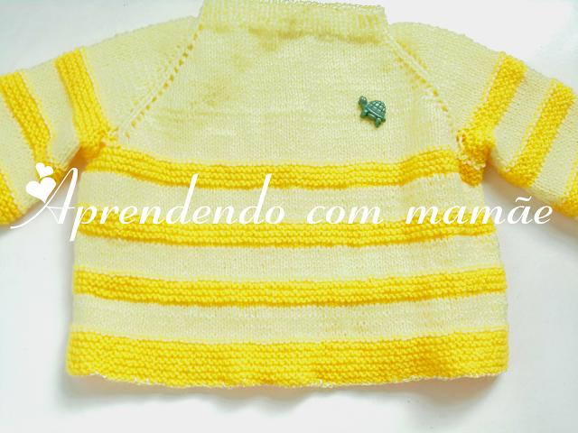 casaquinho de bebê, tricô, Lã Cisne Super Bebê, casaquinho para RN, Ponto meia, Ponto tricô, Ponto barra 1 tricô, casaquinho bicolor, criança, mamãe