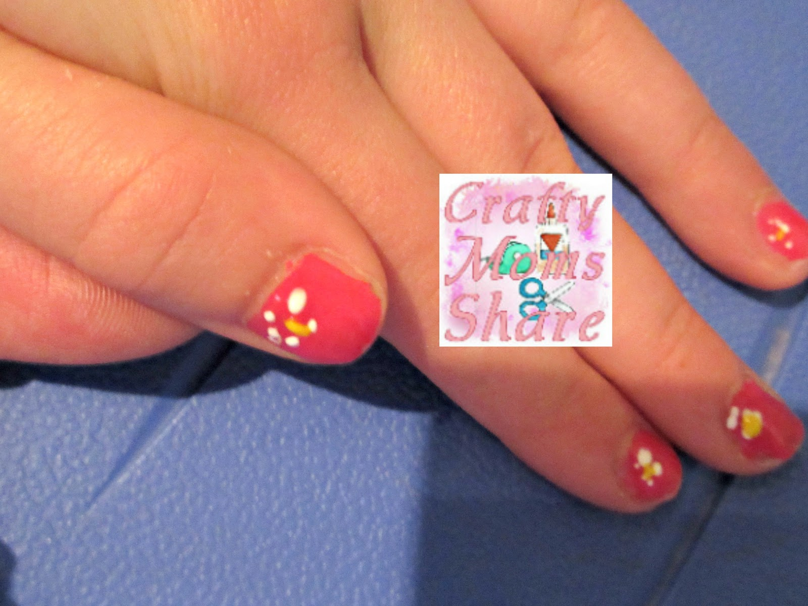 Crafty Moms Share Nail Art A Crafty Weekends Review Link Party