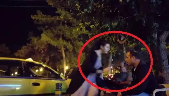 """Γυναίκες οδηγοί επιτίθενται σε ταξιτζήδες που τις αποκάλεσαν """"λάντζες"""" σε πιάτσα ταξί στο Ελληνικό (VIDEO)"""