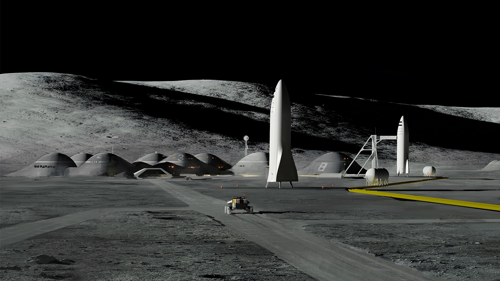 SpaceX Moon Base Alpha
