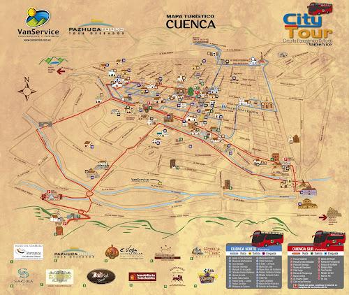 Mapa turístico de Cuenca – Equador