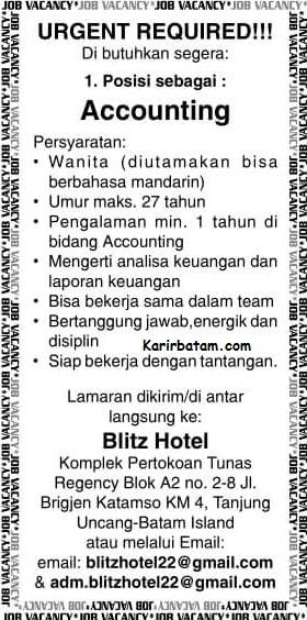 Lowongan Kerja Blitz Hotel Indonesia