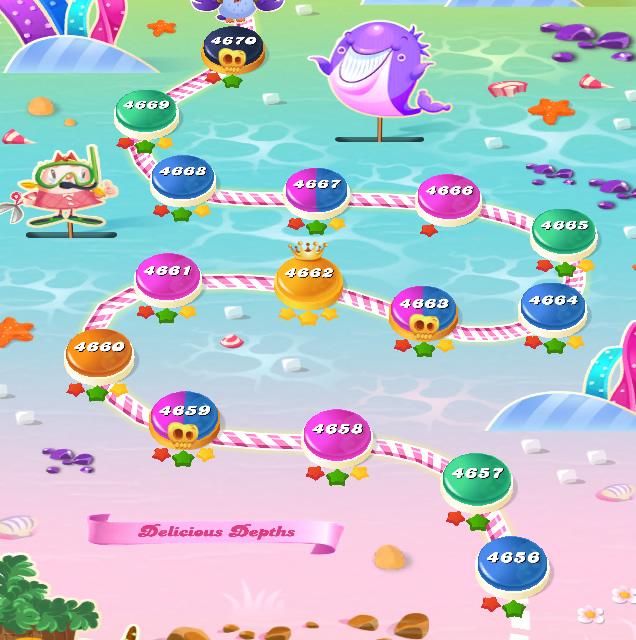 Candy Crush Saga level 4656-4670