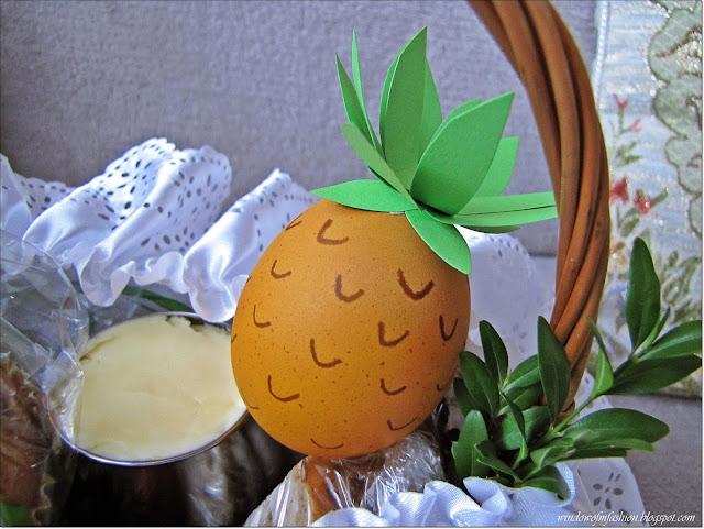 Ananas w koszyczku