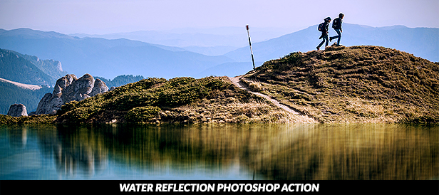 Water Reflection with Rippling Photoshop Action