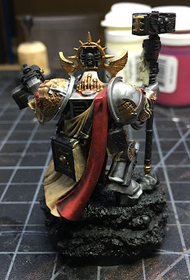 Grand Master Voldus WIP back, gold details painted in