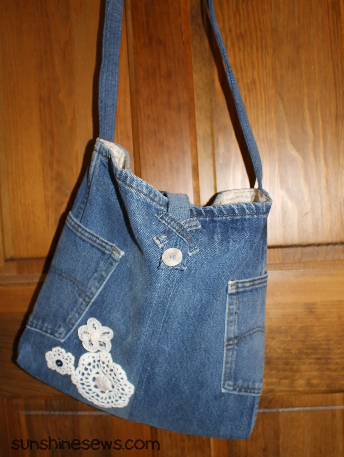 Recycled Jeans Tote Bag