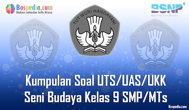 Kumpulan Soal UTS/UAS/UKK Seni Budaya Kelas 9 SMP/MTs Terbaru dan Terupdate