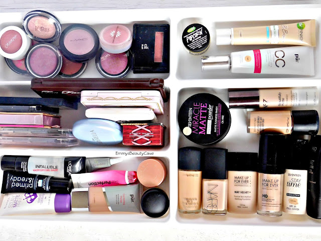 makeup storage ideas for dressing table