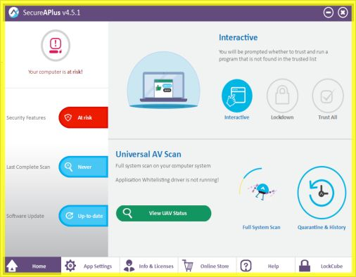 SecureAPlus Antivirus and Application Control | Supratim Sanyal's Blog