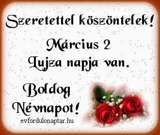Március 2, Lujza névnap